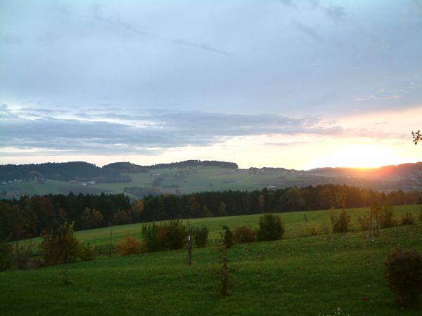 Sonnenuntergang Ferienwohnung 50 Plus in Höhof